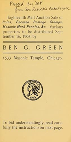 Eighteenth mail auction sale of coins, encased: Green, Ben G.