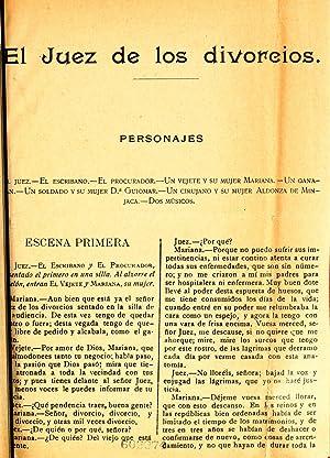 El juez de los divorcios (1800) [Reprint]: Cervantes Saavedra, Miguel