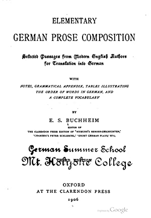 Elementary German prose composition: selected passages from: Emma Sophia Buchheim