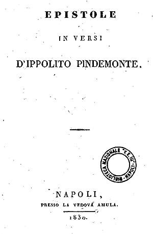 Epistole in versi d'Ippolito Pindemonte [Reprint] (1830): Ippolito Pindemonte