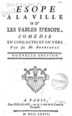 Esope a la ville ou Les fables: Edme Boursault