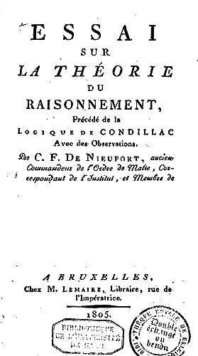 Essai sur la thà orie du raisonnement,: Charles Ferd de