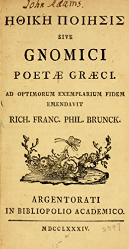 Ethike poiesis : sive, Gnomici poetae Graeci: Urie, Robert, d.