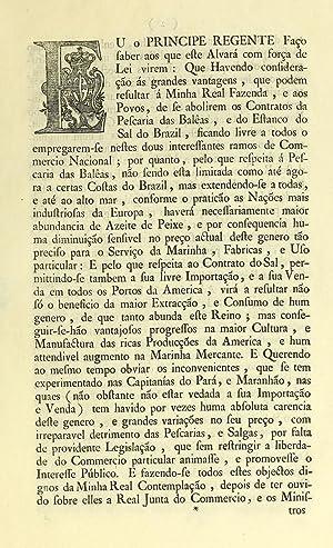 Eu o principe regente faço saber aos: Portugal,Maria I, Queen