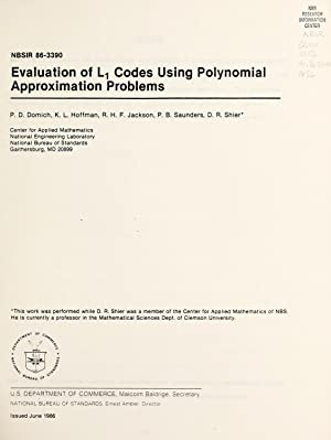 Evaluation of L� codes using polynomial approximation: Domich, P. D.,Hoffman,