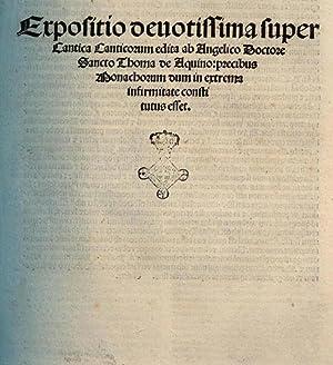 Expositio deuotissima super Cantica canticorum edita ab: Aimon : d'Auxerre