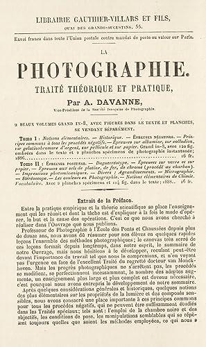 Extrait du catalogue de la librairie Gauthier-Villars: Gauthier-Villars et fils