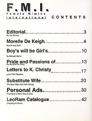 F.M.I. Female mimics international (Volume: Vol. 23