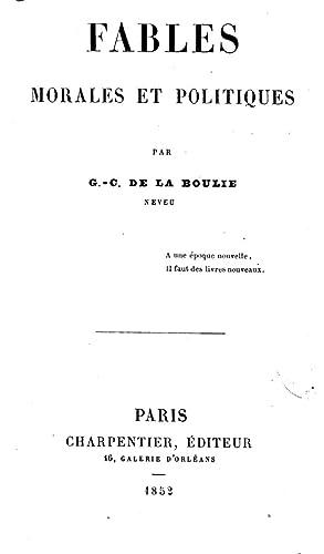 Fables morales et politiques par G (1852): G. C. De