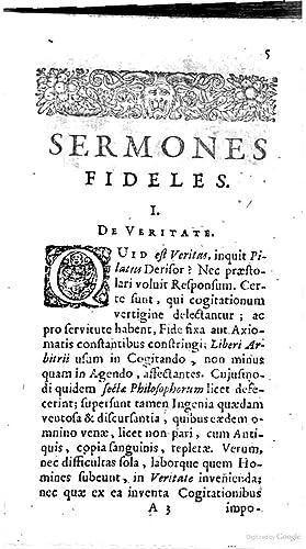 Fr. Baconi de Verulamio Sermones fideles ethici: Francis Bacon