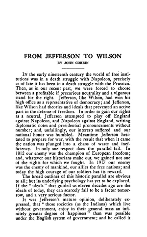 From Jefferson to Wilson (1919) (Volume: 210): Corbin, John