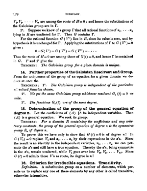 Galois' Theory of Algebraic Equations. (1899) (Volume: Pierpont, James