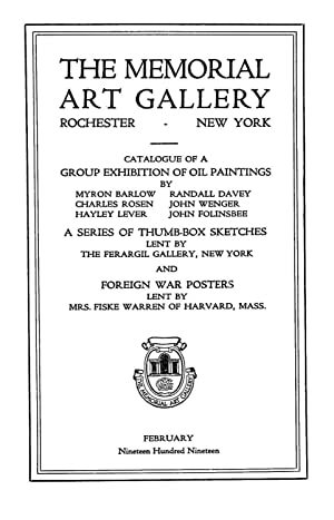 Catalogue of a group exhibition of oil: Barlow, Myron, 1873-,University