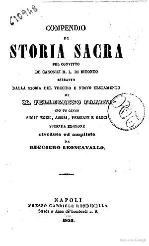 Compendio di storia sacra pel convitto de': Pellegrino Farini