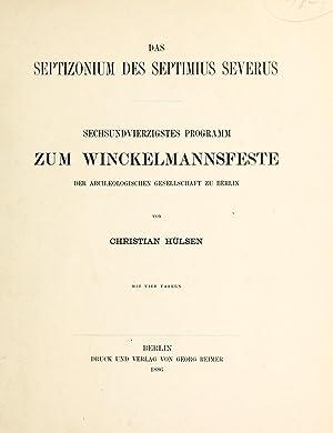 Das Septizonium des Septimius Severus (1886) [Reprint]: Hu?lsen, Christian, 1858-1935