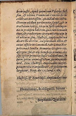 De concilio prouinciali, et auctoritate archiepiscopi in: Stefano Quaranta