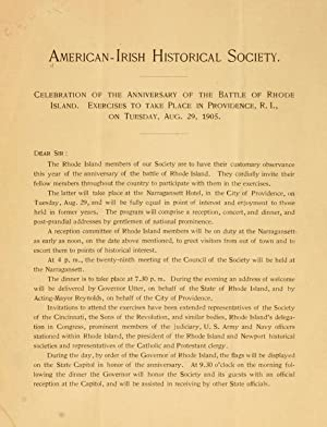 Celebration of the anniversary of the battle: American-Irish Historical Society