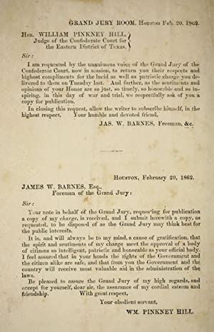 Charge delivered to the Grand jury on: Confederate States of