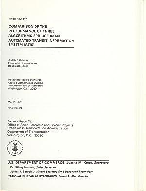 Comparison of the performance of three algorithms: Gilsinn, David E.,Leyendecker,