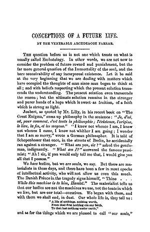 Conceptions of a Future Life (1893) (Volume: Farrar, F. W.