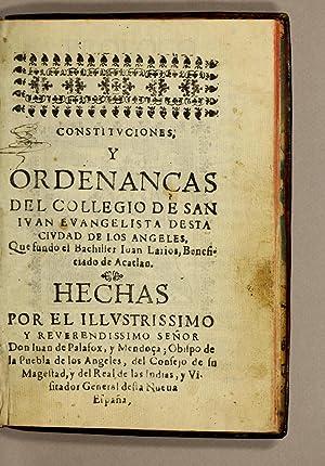 Constituciones, y ordenanças del Collegio de San: Colegio de San