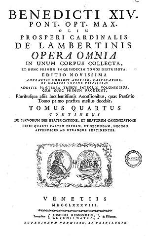 Benedicti 14. pont. opt. max. olim Prosperi: Benedictus 14.>