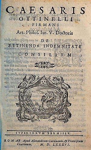 Caesaris Ottinelli Firmani . De reditibus. Ecclesiae.: Cesare Ottinelli