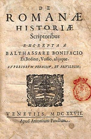 Caroli Sigonii Iudicium de historicis, qui res