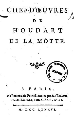Chefd'oeuvres de Houdart de La Motte (1786): Antoine : Houdart
