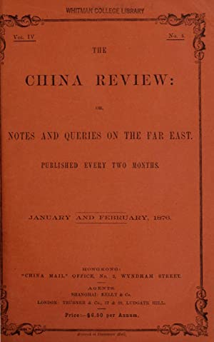 China Review, Or, Notes Queries Far East - AbeBooks