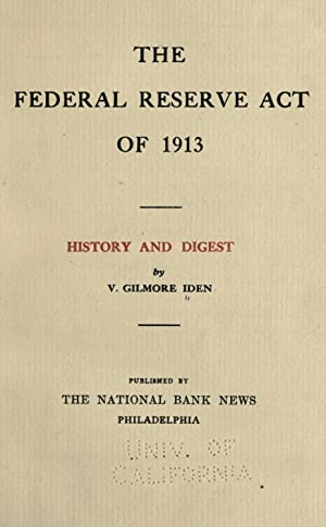 Federal Reserve Act, 1913 - AbeBooks