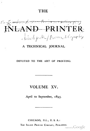 The Inland and American printer and lithographer,