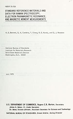 Standard reference materials and data for Raman: Bennett, H. S.,Candela,