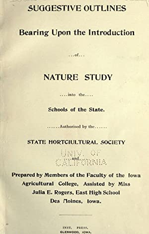 Suggestive outlines bearing upon the introduction of: Iowa State Horticultural