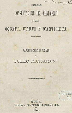 Sulla conservazione dei monumenti e degli oggetti: Massarani, Tullio