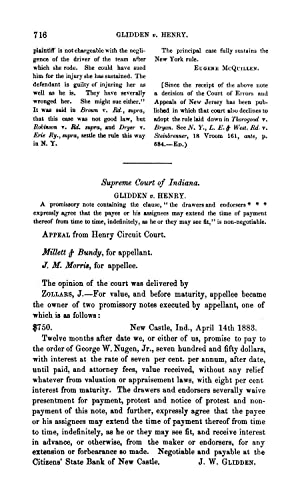 Supreme Court of Indiana. Glidden v. Henry: Thornton, W. W.