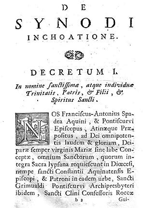 Synodus dioecesana ecclesiae Aquinatensis et Fregellani sive: Aquino