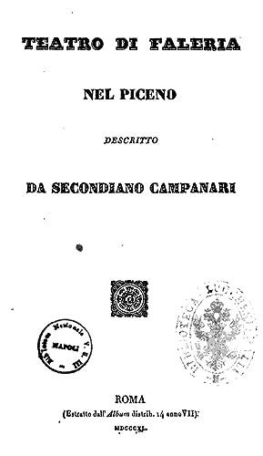 Teatro di Faleria nel Piceno descritto da: Campanari, Secondiano. aut