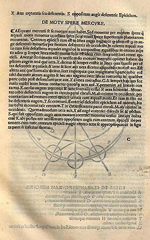 Tehorice planetarum nuper aeditae cum declarationibus additionibus: Camillo Leonardi