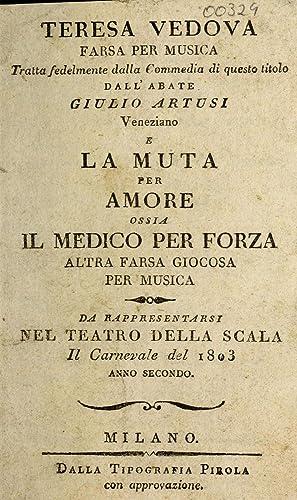 Teresa vedova : farsa per musica : Artusi, Giulio, abate,