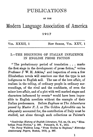 The Beginning of Italian Influence in English: Savage, Howard J.