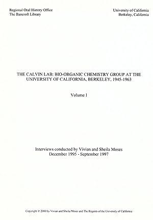 The Calvin Lab : oral history transcript: Bancroft Library. Regional