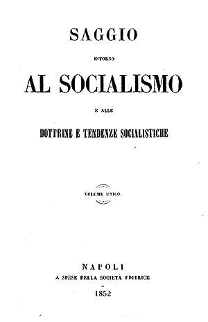 Saggio intorno al socialismo e alle dottrine: Emiliano Avogadro della