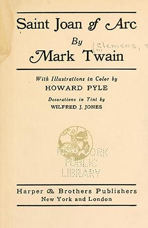 Saint Joan of Arc [Reprint]: Twain, Mark, 1835-1910,Pyle,