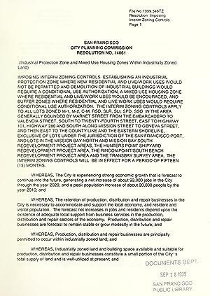 San Francisco City Planning Commission resolution no.: San Francisco (Calif.).