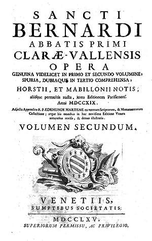 Sancti Bernardi abbatis primi Claraevallensis Opera genuina