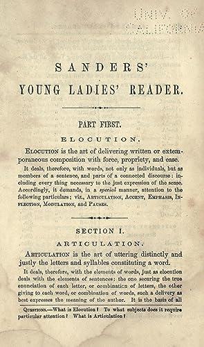 Sanders' young ladies' reader : embracing a: Sanders, Charles W.