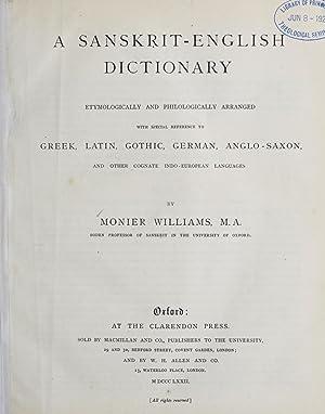 Sanskrit-English dictionary etymologically and philogically arranged with: Monier-Williams, Monier, Sir,