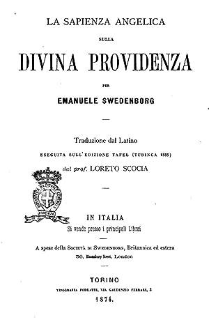 Sapientia angelica de divina providentia (1874) [Reprint]: Emanuel Swedenborg