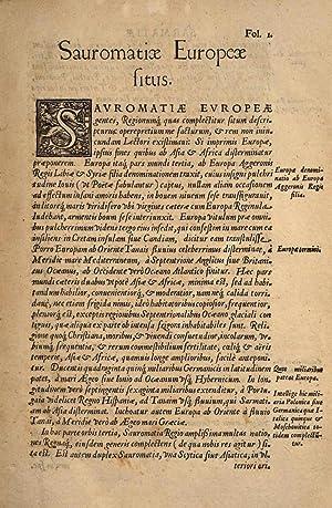 Sarmatiae Europeae descriptio, quae regnum Poloniae, Lituaniam,